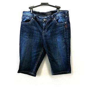 Silver Jean Shorts Size 18
